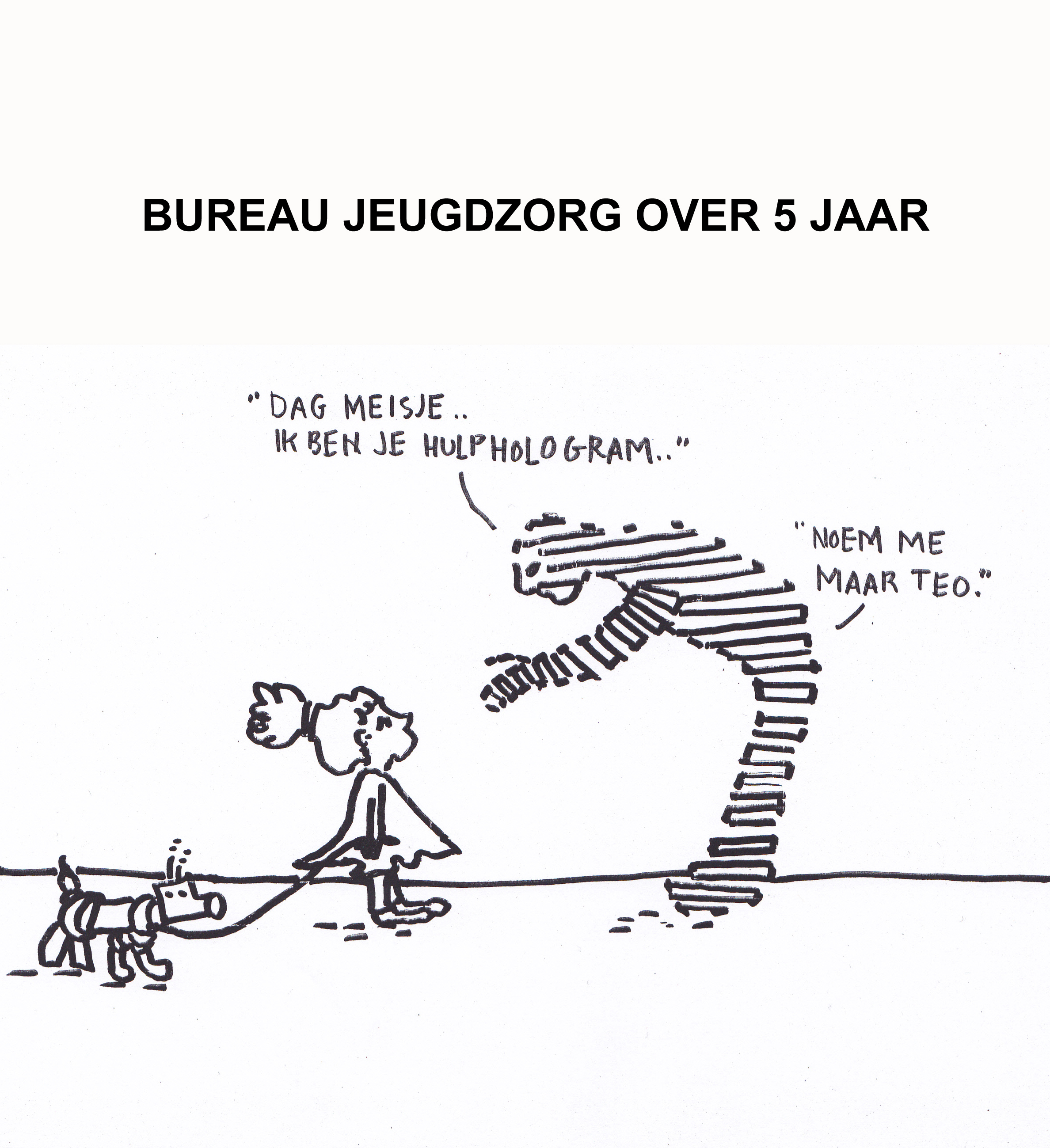 Cartoonist evelien slim for Bureau jeugdzorg