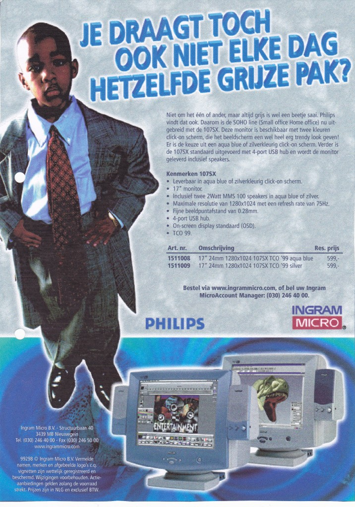 Advertentie Philips SOHO line beeldscherm Ingram Micro