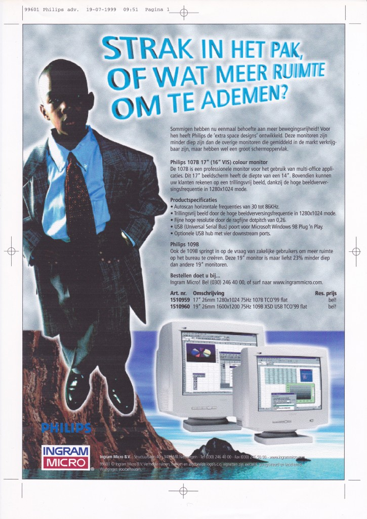 Advertentie Philips SOHO line Ingram Micro 2