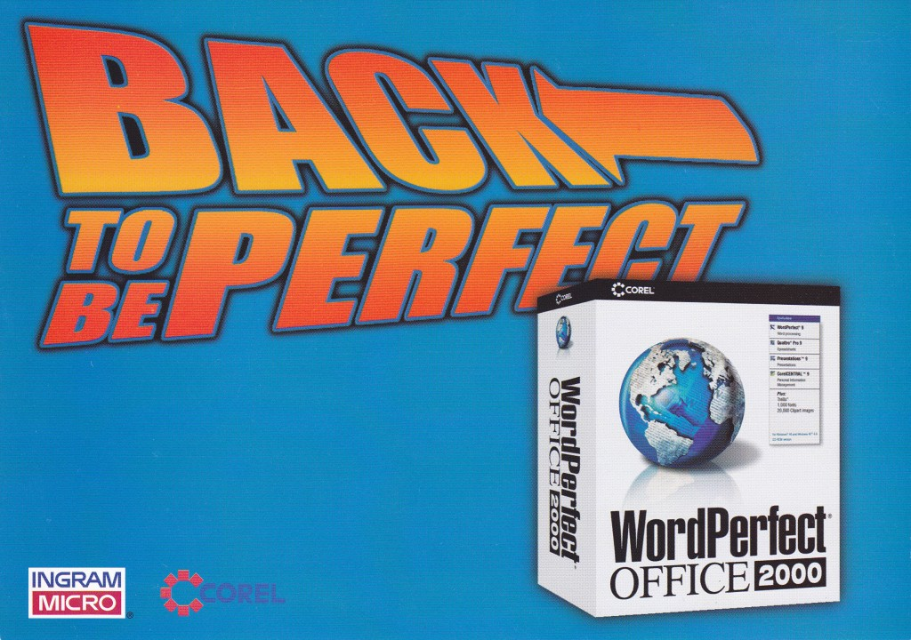 Leaflet Corel Word Perfect Office Ingram Micro voork